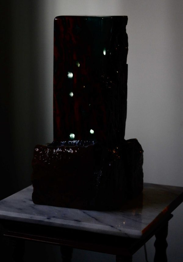 Starry Night Lamp features Epoxy, Wood and Stone. This epoxy lamp is designed by Swerl Designs LLC.