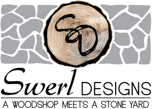 Logo for Swerl Designs - A Woodshop Meets A Stone yard