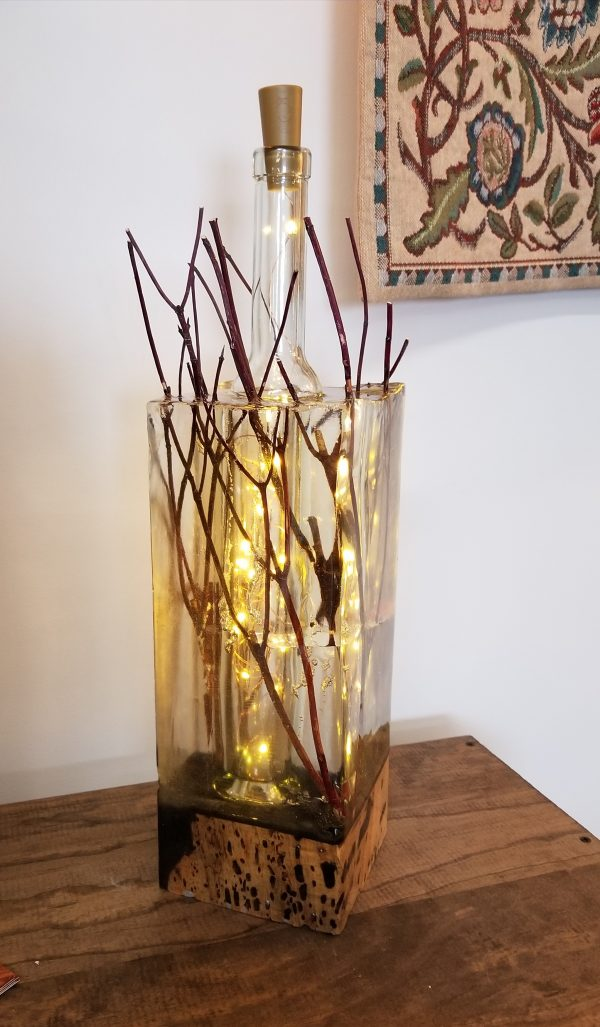 Red Twig Dogwood Lamp designed and built by Swerl Designs LLC