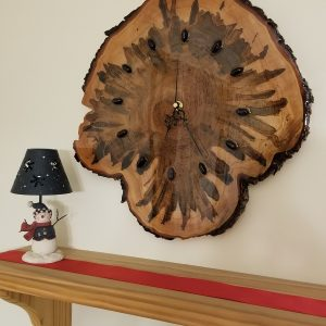 Ambrosia Maple Wall Clock designed and built by Swerl Designs LLC