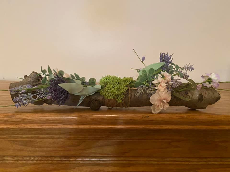 faux flower and branch decor from dollys decor