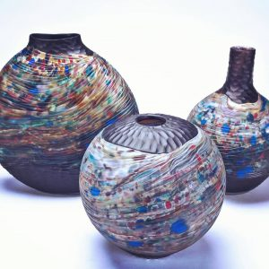 Blown Glass by Grateful Gathers Glass at Swerl Designs in West Reading PA